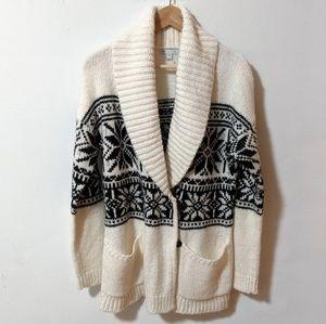 GAP Ski Fuzzy Cardigan Sweater